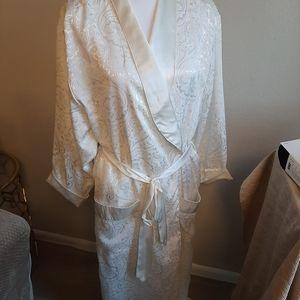 Victoria's secret gold label long satin robe